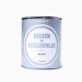 Hermadix  Deuren en Kozijnenlak RAL 9016 750 ml