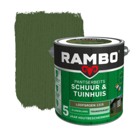 Rambo Pantserbeits Schuur & Tuinhuis Transparant Zijdeglans Loofgroen 1215 2,5 Liter