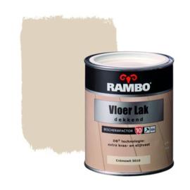 Rambo Vloer Lak Dekkend Zijdeglans 5010 RAL 9001 Cremewit 750 ml
