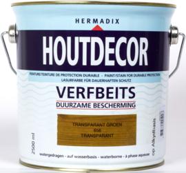 Hermadix Houtdecor Verfbeits Transparant 656 Transparant Groen 2,5 Liter