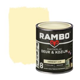 Rambo Pantserlak Deur en Kozijn Dekkend Zijdeglans Cremewit 1110 750 ml