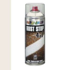 Dupli Color Rust Stop 4 in 1 Satin Matt RAL 9010 Helderwit 400 ml