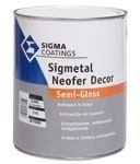 Sigmetal Neofer Decor Semi-Gloss Midgrey 500 ml