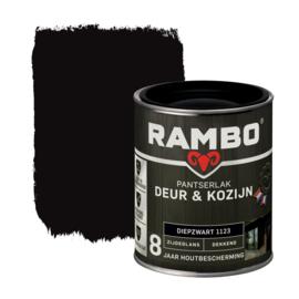 Rambo Pantserlak Deur en Kozijn Dekkend Zijdeglans Diepzwart 1123 750 ml