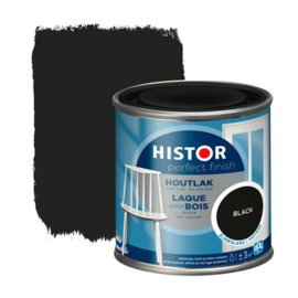 Histor Perfect Finish Houtlak Zijdeglans Black 250 ml