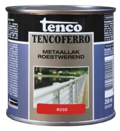 Tenco Ferro Metaallak Roestwerend Zijdeglans Rood 250 ml