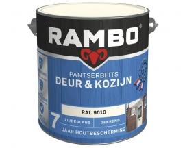Rambo Pantserbeits Deur en Kozijn Dekkend Zijdeglans RAL 9010 2,5 Liter