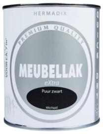 Hermadix Meubellak eXtra Puur Zwart Krijtmat 750 ml