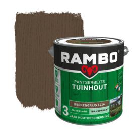 Rambo Pantserbeits Schuur & Tuinhuis Transparant Zijdeglans Berkengrijs 1214 2,5 Liter