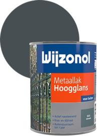 Wijzonol Metaallak Hoogglans 9121 Antraciet 750 ml