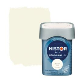 Histor Acryl Hoogglans Lak RAL 9001 Katoen 750 ml