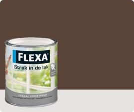 Flexa Strak In De Lak Hoogglans 1023 Aardebruin 750ml