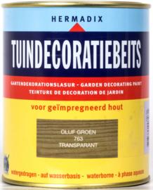 Hermadix Tuindecoratiebeits 763 Olijf Groen Transparant 750 ml