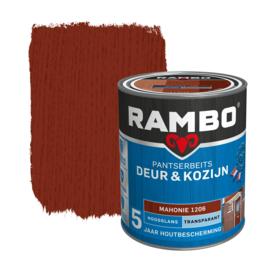 Rambo Pantserbeits Deur en Kozijn Transparant Hoogglans Mahonie 1206 750 ml