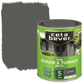 Cetabever Schuur & Tuinhuis Beits ZG Antraciet 750 ml