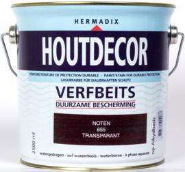 Hermadix Houtdecor Verfbeits Transparant 655 Noten 2,5 Liter