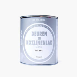 Hermadix  Deuren en Kozijnenlak RAL 9003 750 ml