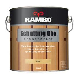 Rambo Schutting Olie Transparant Blank 1200 2,5 Liter