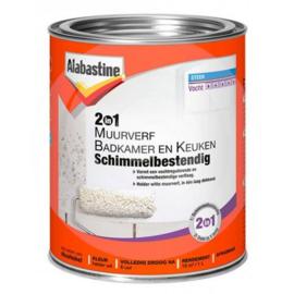 Alabastine Muurverf 2-in-1 Badkamer en Keuken 1 Liter