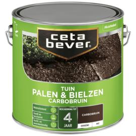 Cetabever Tuin Palen & Bielzen Carbobruin Mat 2,5 Liter