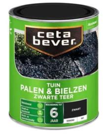 Cetabever Tuin Palen & Bielzen Zwarte Teer Dekkend Mat 750 ml