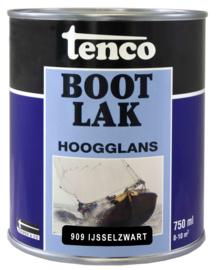 Tenco Bootlak Hoogglans 909 IJsselzwart 750 ml