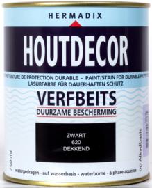 Hermadix Houtdecor Verfbeits Dekkend 620 Zwart 750 ml