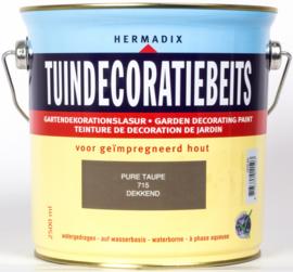 Hermadix Tuindecoratiebeits 715 Pure Taupe Dekkend 2,5 Liter