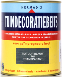 Hermadix Tuindecoratiebeits 764 Natuur Blauw Transparant 750 ml