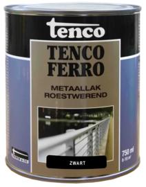 Tenco Ferro Roestwerende IJzerverf  Zijdeglans Zwart 750 ml