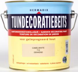 Hermadix Tuindecoratiebeits 712 Camel White Dekkend 2,5 Liter
