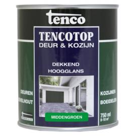 Tencotop Deur & Kozijn Dekkend Hoogglans Middengroen 750 ml