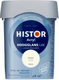 Histor Acryl Hoogglans Lak Ivoor 6553 750 ml