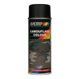 Motip Camouflagelak Mat RAL 9021 Teerzwart 400 ml