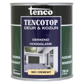 Tencotop Deur & Kozijn Dekkend Hoogglans RAL 9001 Cremewit 750 ml