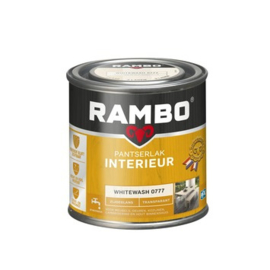 Rambo Pantserlak Interieur Whitewash 0777 ZIJDEGLANS 250 ml