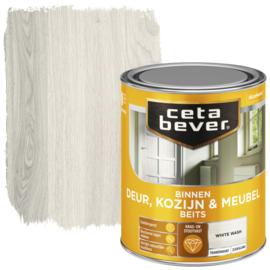 CetaBever Deur-, Kozijn- en Meubelbeits White Wash Zijdeglans 750 ml