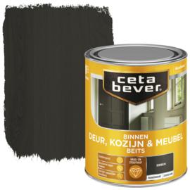 CetaBever Deur-, Kozijn- en Meubelbeits Ebben Zijdeglans 750 ml