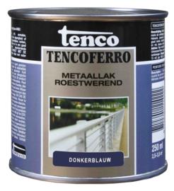 Tenco Ferro Metaallak Roestwerend Zijdeglans Donkerblauw 250 ml