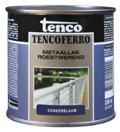 Tenco Ferro Roestwerende IJzerverf  Zijdeglans Donkerblauw 250 ml