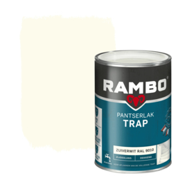 Rambo Pantserlak Trap Dekkend Zijdeglans Zuiverwit 9010 1,25 Liter
