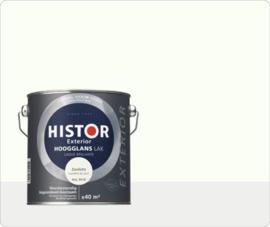 Histor Exterior Hoogglans Lak Zonlicht RAL 9010 2,5  Liter