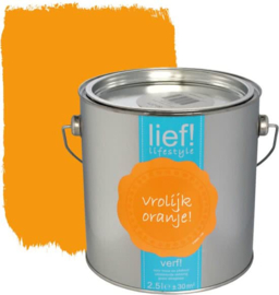 Lief Lakverf Vrolijk Oranje 1 liter