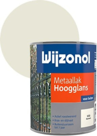 Wijzonol Metaallak Hoogglans 9235 Roomwit 750 ml