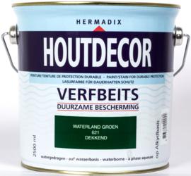 Hermadix Houtdecor Verfbeits Dekkend 621 Waterland Groen 2,5 Liter