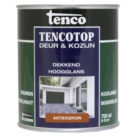 Tencotop Deur & Kozijn Dekkend Hoogglans Antiekbruin 750 ml