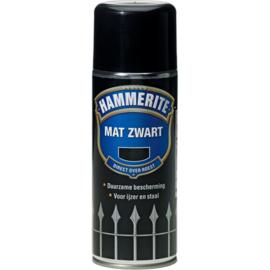 Hammerite Metaallak Mat Zwart Z 260 400 ml