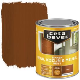 CetaBever Deur-, Kozijn- en Meubelbeits Teak Zijdeglans 750 ml