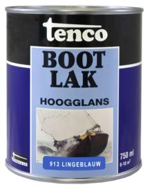 Tenco Bootlak Hoogglans 913 Lingeblauw 750 ml