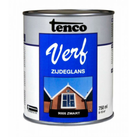 Tenco Verf Zijdeglans Zwart 9005 750 ml